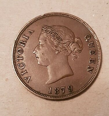 Cyprus 1/2 Piastre Queen Victoria 1879 In Exf Very Nice!