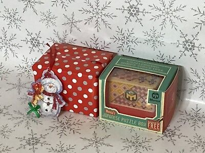 mensa japanese puzzle box (12 moves) gift wrapped and tagged (1 puzzle box)