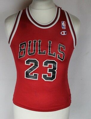 33038eba2 Jordan  23 Vintage Chicago Bulls Nba Basketball Jersey Champion Boys Rare
