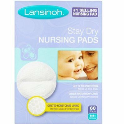 Lansinoh Nursing Pads Stay Dry Unique Waterproof Layer, Best Protection 60 Pads