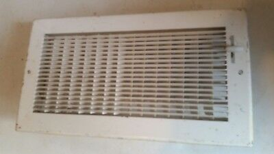 Metal Wall Louvered Grate Heat Vent Cover Register Cold Air Return Vintage