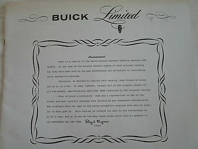 1940 Buick Limited Prestige Catalog Reprint by Floyd Clymer