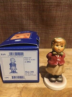 """Hummel Figurine """"Clear As A Bell"""" Great Condition"""