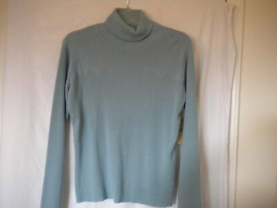 15a07d5bb43 Great Northwest Petite Size PL Light Blue Long Sleeve Women Turtleneck  Sweater