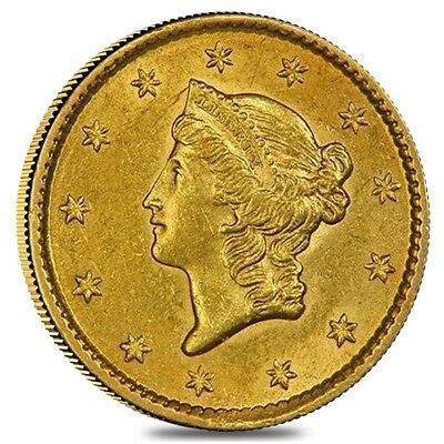 $1 Gold Liberty Head Type 1 - Polished or Cleaned (Random Year)