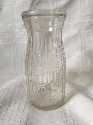 Vintage Half Pint Milk Bottle Western Dairy Company Chicago Illinois