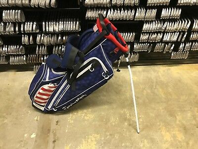 RARE Limited Edition 2017 US OPEN TAYLORMADE Red White Blue STAND BAG TM17 FLAG