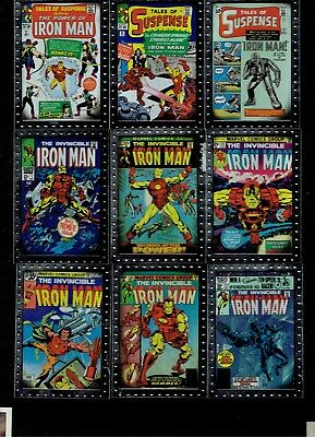 Iron Man 2 2010 Comic Book Covers Completed Insert Card Set Cc1 To Cc9 Marvel