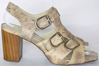 a30de2ba8 Clarks ladies beige taupe snake print leather sandals UK 6