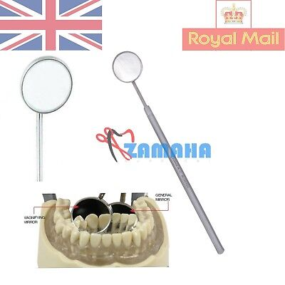 Examination Magnifying Dental Mouth Mirror Heads with Handle Stainless Steel