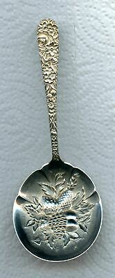 Repousse Bon Bon Nut Spoon 5-1/4 inch by S. Kirk and Son Sterling Silver