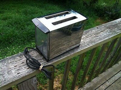 Vintage Stainless Steel Toaster Chrome, Tested Works