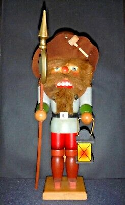 Nachtwächter/Nightwatchman Nutcracker by Holzkunst Ulbricht made in West Germany