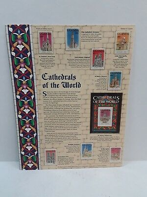 Authentic Cathedrals of the World; World Of Stamps Collectible Series