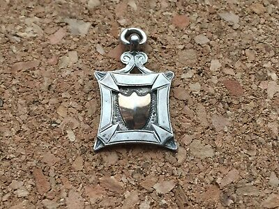 Unusual Shape Sterling Silver Decorative Pocket Watch Fob 1927 Chester