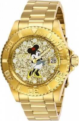 Invicta Disney Limited Edition Minnie Mouse Gold Dial Ladies Watch 27386