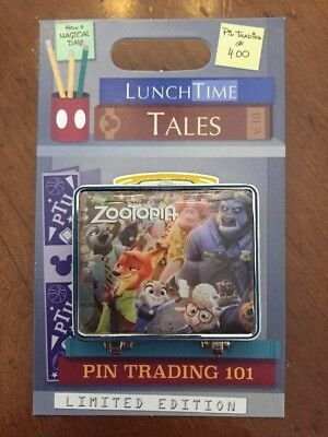 Disney Parks Trading Pin Lunch Box Lunchtime Tales Series July 2018 Zootopia LE