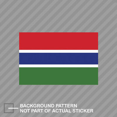 REPUBLIC OF THE GAMBIA COUNTRY VINYL FLAG DECAL STICKER