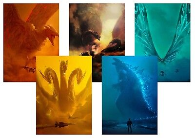 GODZILLA: King of the Monsters, Mothra, Rodan  A5 A4 A3 Textless Movie posters