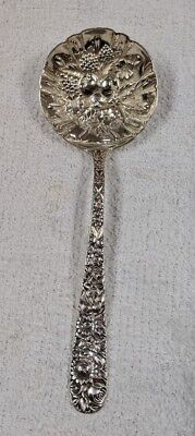 "S. Kirk & Son Sterling Silver 7.5"" Repousse Berry Spoon (74.8 g)"