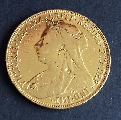 1900 Great Britain Full Sovereign  Gold coin Great Gift