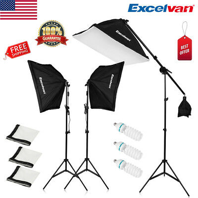 2000W Photo Studio LED Continuous Lighting Kit Light Stand + 135W LED Lamp 5500K