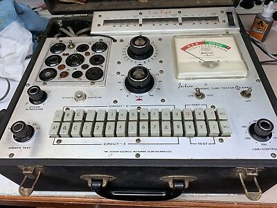 Jackson Model 648-S Tube Tester In Working Condition