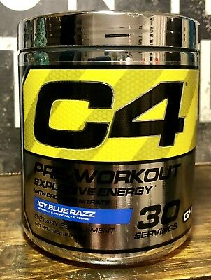 Cellucor C4 Explosive Energy Pre-Workout Icy Blue Razz 30 Serving Slight Clumpy