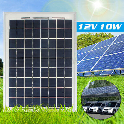 10W 12V A-Class Poly Solar Panel Battery Charger Off Grid For Car RV Boat
