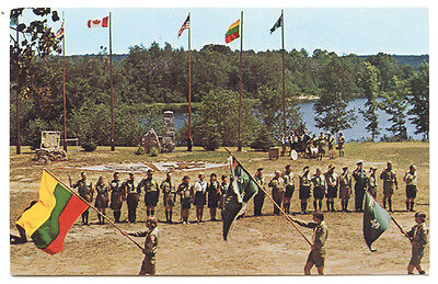 Vintage Scouts of Lithuania 60 Anniversary 1918-1978 Postcatd Camp Romuva Canada