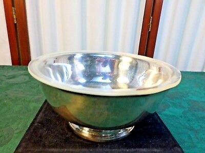 Beautiful Gorham Silverplate Footed Candy/Nut Bowl w/Plastic Insert-YC779