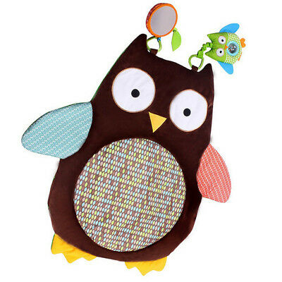 US Baby Infant Cartoon Owl Tummy Time Crawling Play Mat Game Pad Pillow Toy