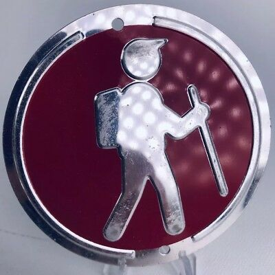Trailite Hiker Hiking Trail Markers Badge Red Non-Reflective Aluminum
