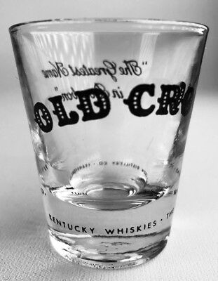 Old Crow Bourbon Shot Glass Greatest Name in Whiskey Frankfort KY Barware