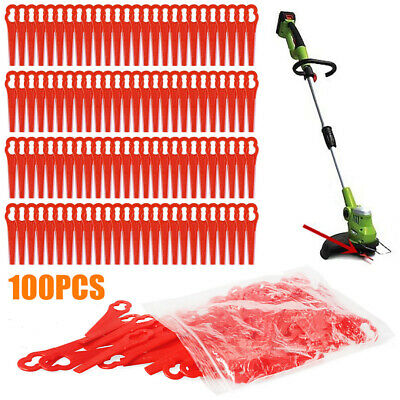 100pcs Red Plastic Replacement Blade Kit Line Trimmer for Cordless Grass Trimmer