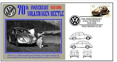 70th ANNIVERSARY OF THE VW VOLKSWAGEN BEETLE MOTOR CAR SOUVENIR COVER 3