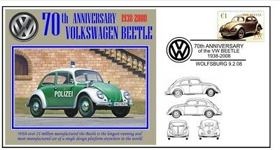 70th ANNIVERSARY OF THE VW VOLKSWAGEN BEETLE MOTOR CAR SOUVENIR COVER 10