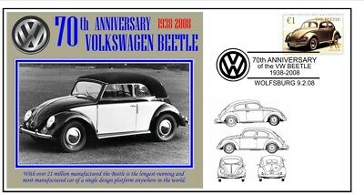 70th ANNIVERSARY OF THE VW VOLKSWAGEN BEETLE MOTOR CAR SOUVENIR COVER 7