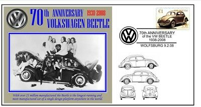 70th ANNIVERSARY OF THE VW VOLKSWAGEN BEETLE MOTOR CAR SOUVENIR COVER 6