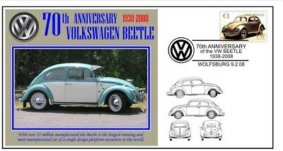 70th ANNIVERSARY OF THE VW VOLKSWAGEN BEETLE MOTOR CAR SOUVENIR COVER 9