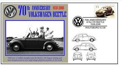 70th ANNIVERSARY OF THE VW VOLKSWAGEN BEETLE MOTOR CAR SOUVENIR COVER 5
