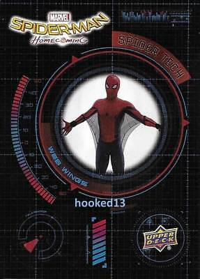 Marvel Spider-Man Homecoming Spider Tech Web Wings Card #ST1