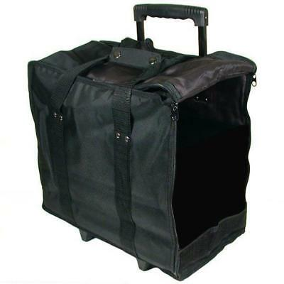Jewelry Display Black Carrying Case w/Wheels Handle