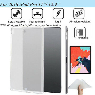 2018 Ultra Thin Protective Clear TPU Case Cover For New Apple iPad Pro 11.0 12.9