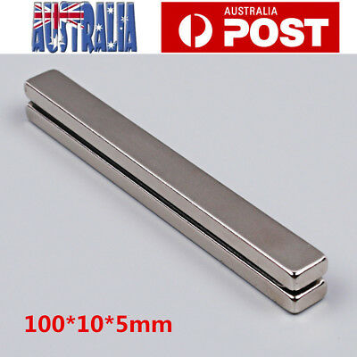 2X Strong Block Bar Strip Cuboid Magnets Fridge Rare Earth Neodymium 100*10*5mm
