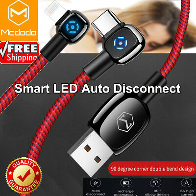 Mcdodo Smart Auto Disconnect Lightning/Type C Charging Cable F iPhone Samsung LG