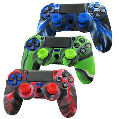 1x Game Rubber Silicone Case Camo Soft Skin Cover For PS4 Controller Handle Grip