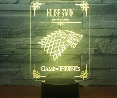 Game Of Thrones Personalized Night Light Multi-Color Change LED Desk Lamp Gift