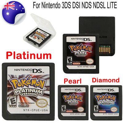 POKEMON Platinum Pearl Diamond Version Game Card For Nintendo NDS 3DS DSI LITE