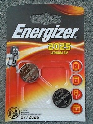 Pile Energizer lithium 3V CR2025 montre calculatrice appareille photo lot 2 pile